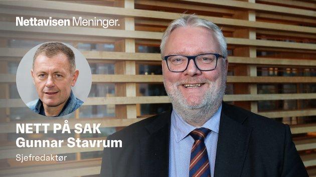 MILLIONBONUS: Statens mann i Trøndelag, statsforvalter Frank Jenssen, deler ut 5.000 kroner til hver ansatt som trøst for at de må jobbe på hjemmekontor under koronaen.