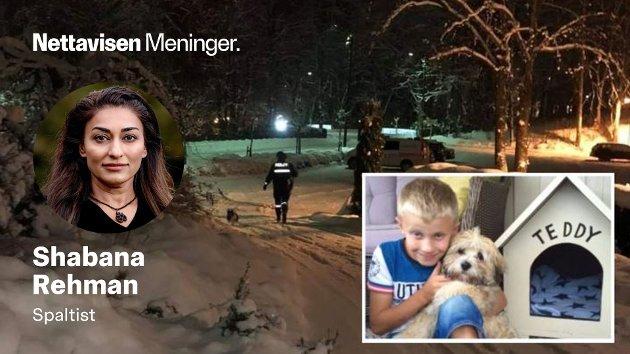 Den vesle hunden Teddy ble hentet av politiet og er nå plassert på hemmelig kennel. Mathias, sønnen i huset, har hatt et nært forhold til Teddy i store deler av sitt liv.
