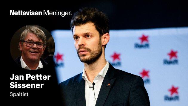 - Rødt er på mange måter garantisten for en politikk som aldri blir en realitet, skriver Jan Petter Sissener. Her representert ved partiets lederskikkelse, Bjørnar Moxnes.