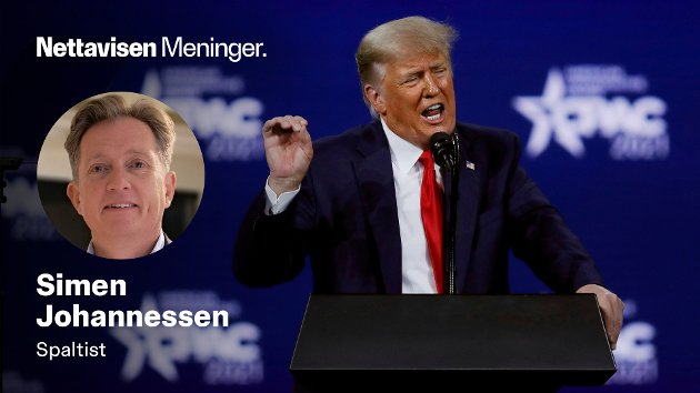 Tidligere president Donald Trump er fortsatt en populær mann i USA. Her taler han på Conservative Political Action Conference (CPAC) i Florida i slutten av forrige måned.