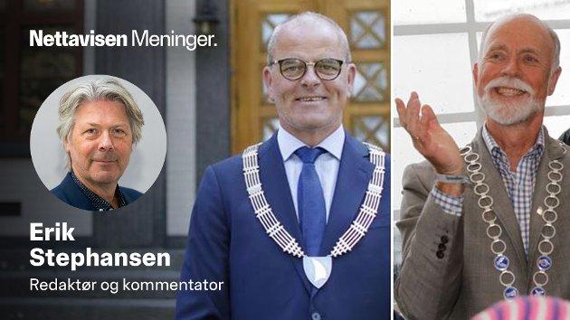 Kan det være noe med legeringen? Ordører Jan Sanness Andersen (Ap) i Færder var uheldig og ble vaksinert først. Ordfører  Torgeir Dahl (H) i Molde var uheldig med timingen.