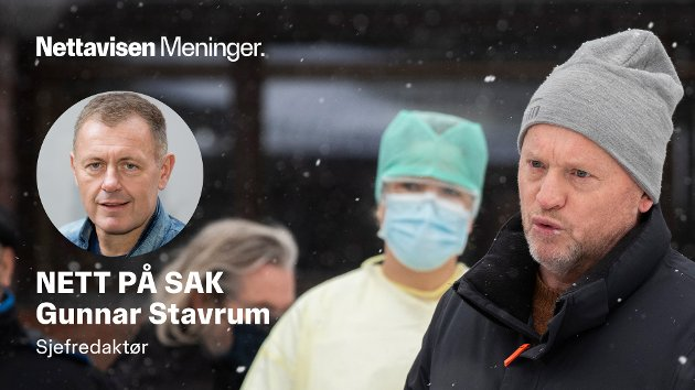 STOVNER: Byrådsleder Raymond Johansen på test med spyttprøver på Stovner videregående skole