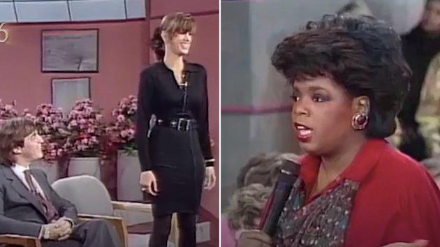 I teksten kritiserer debattforfatteren dobbeltmoralen hos kvinner som tidligere har opptrådt kvinnenedsettende, og som nå kaller seg for feminister. Her er den da 20 år gamle kommende supermodellen Cindy Crawford gjest hos Oprah Winfrey i 1986.