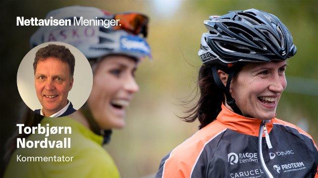 Nettavisens langrennsekspert tror Marit Bjørgen kan vinne årets utgave av Vasaloppet. Her er hun sammen med VM-dronningen Therese Johaug etter en rulleskikonkurranse i Oslo i september i fjor.