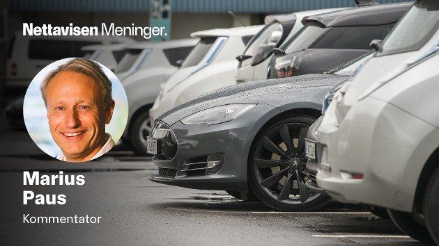 – Unge mennesker som bor i by er ikke overraskende aller mest positive til elbil, skriver Marius Paus.