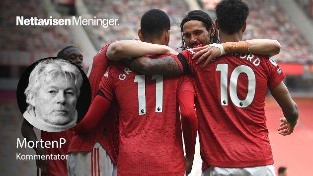 Manchester United er en av klubbene som skal delta i en lukket superliga med mange av Europas største klubber. Her avbildet i en kamp 18. april.