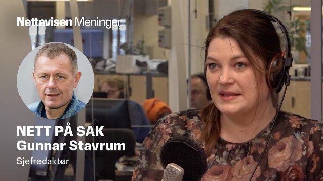 TROR IKKE PÅ EKSPERTER: Arbeiderpartiets Cecilie Myrseth tror ikke på eksperter med kalkulator, men vil bygge Nord-Norgebanen til 120 milliarder kroner.