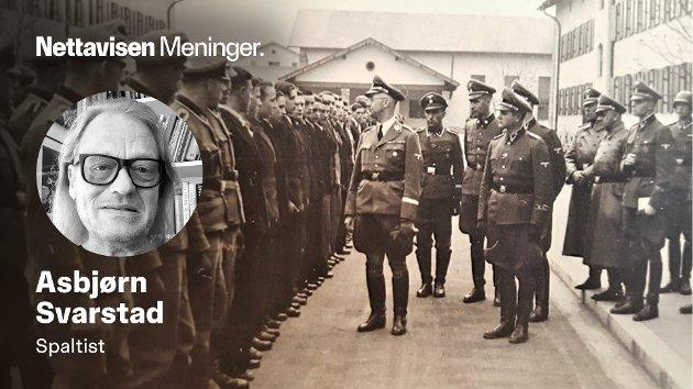 Heinrich Himmler ønsker norske SS-frontkjempere velkommen til Tyskland.