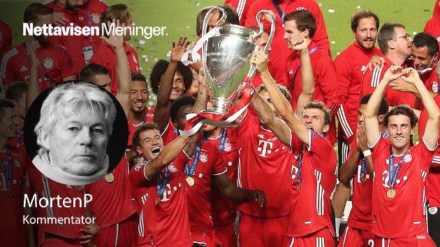 Bayern München under feiringen av fjorårets seier av Champions League.