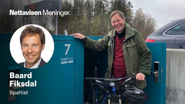 GRATIS: Petit-skribent Baard Fiksdal skriver om trøbbelet han opplevde da han skulle låse inn sykkelen sin på Gjettum t-banestasjon.