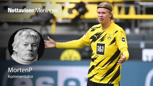 Erling Braut Haaland har ikke scoret mål på fire kamper, tre av dem for Norge. Nedturen som var vanskelig å fordøye mot Köln har gått over til total forstoppelse, skriver MortenP.
