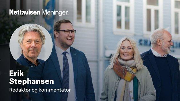 PERSONLIG: Førstekandidat for Høyre i Troms, Erlend Svardal Bøe (tv) var blant dem hadde nøyaktig de samme personlige bekymringene som partikontorets navnløse skribent.