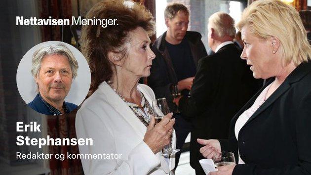 Eli Hagen og Siv Jensen har måttet forholde seg til hverandre i mange år. Det har ikke alltid vært hjertelig.