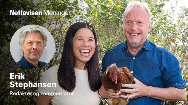 Raymond Johansen (Ap) og Lan Marie Berg (MDG) lanser felles strategi for urbant landbruk i 2019.