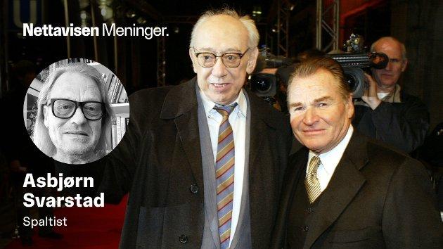 NORSKE KRIMHELTER: Tyske Horst Tappert (t.v.) og Fritz Wepper, som spilte Stephan Derrick og Harry Klein i krimserien «Derrick», gjorde at nordmenn satt fjetret foran skjermen den gang det ikke var altfor mye annet å velge blant på TV. Tappert døde i 2008.