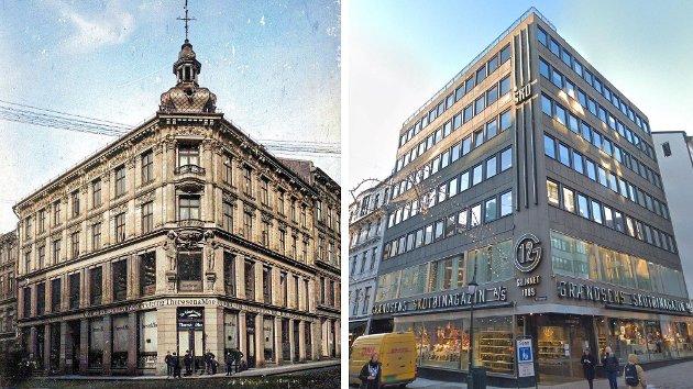 Grensen 12 i Oslo er bare ett av flere eksempler som «opprørerne» reagerer på. Men arkitektene kan ikke tildeles all skyld, mener debattforfatteren. Foto: Skjermdump (Instagram/@aonorge. Montasje: Nettavisen.)