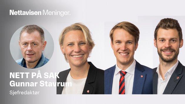 VAKSINENEKTERNE: Maria Karine Aasen-Svensrud (Ap), Torstein Tvedt Solberg (Ap) og Bjørnar Moxnes fra Rødt.