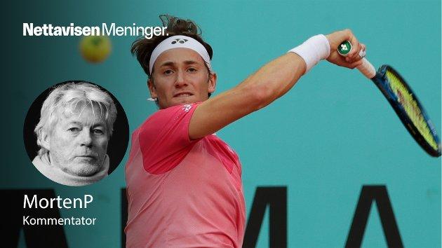 – For første gang i karrieren har Casper Ruud slått en av verdens fem beste tennisspillere, akkurat nå den tredje beste på grus, skriver MortenP.