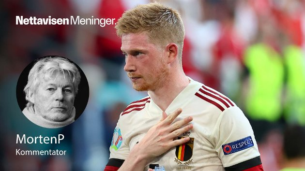 Belgias Kevin de Bruyne herjet mot Danmark.