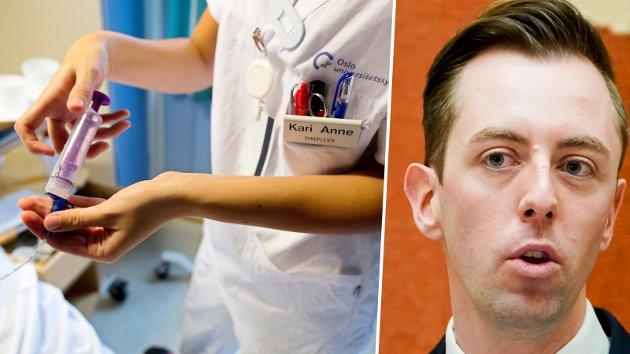 – Ny rapport fra Statistisk sentralbyrå sier at vi vil mangle 18.000 helsefagarbeidere og 28.000 sykepleiere i 2035. Og det var før pandemien traff Norge.