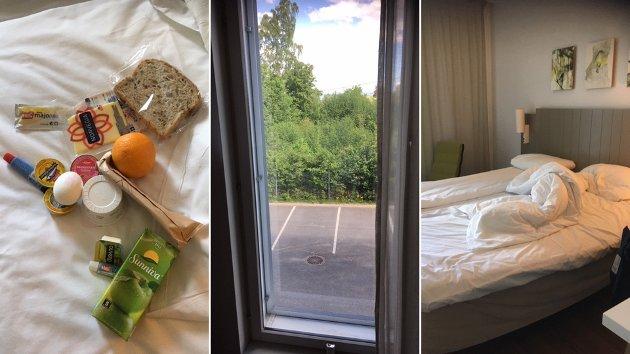 Etter flere runder med isolasjon og negative koronatester i 12 uker, ble debattforfatteren plassert på karantenehotell i Norge.