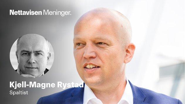 – Får vi en reversregjering med Trygve Slagsvold Vedum? spør Kjell-Magne Rystad.