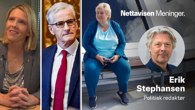 Sylvi Listhaug (Frp), Jonas Gahr Støre (Ap) og Erna Solberg (H) er først ute av partilederne til å innta rollen som gjesteredaktør i Nettavisen.