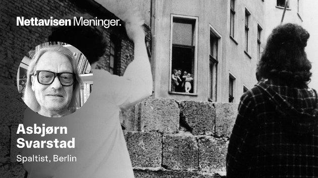 To mødre fra Vest-Berlin vinker til sine barn som var på besøk hos besteforeldre på den andre siden av sektorgrensen da muren ble reist. Etter forhandlinger fikk barna dra tilbake til foreldrene.