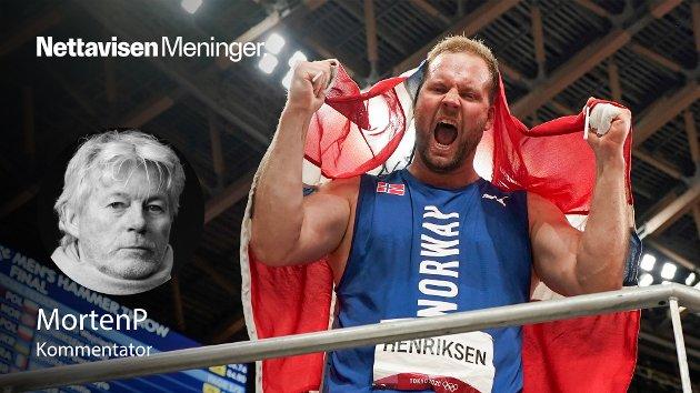 Eivind Henriksen, kanskje den mest grasiøse sleggekasteren i verden, er mer enn de fleste andre norske idrettsutøvere et produkt av seg selv, skriver MortenP i sin hyllest.