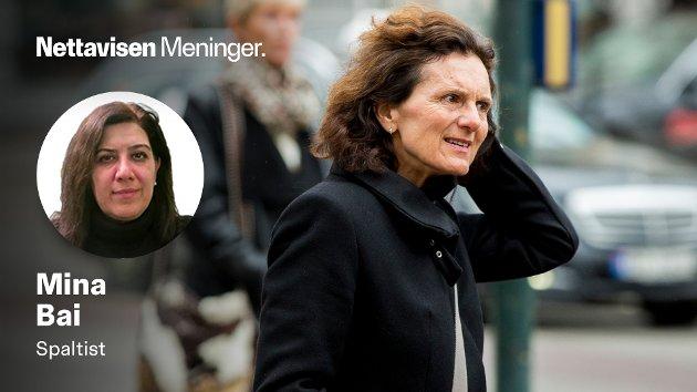 Mina Bai er meget skeptisk til NRK og utenriksreporter Sidsel Wolds reportasjer fra Iran.