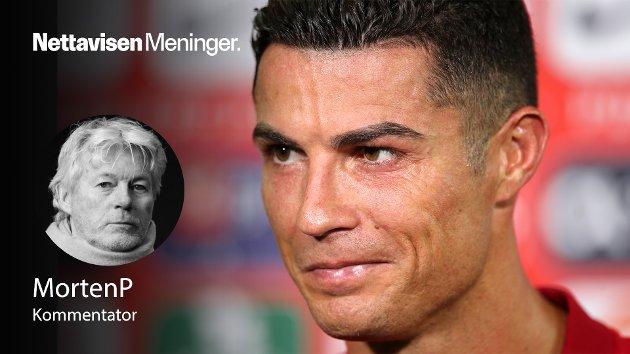 BIBELSKE UNDERTONER: – Mange overganger er store, noen er ikke til å tro, og en sjelden gang skjer det noe som får planeten Volleywood til å stoppe opp. Cristiano Ronaldo (36) bekreftet til Manchester United var en sånn overgang, skriver MortenP.