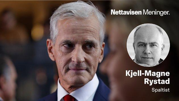 BLITT KALT UKLAR OG TÅKEFYRSTE: – Det eneste som er sikkert med Støres lederskap er at han har lyst til å bli statsminister, skriver Kjell-Magne Rystad.