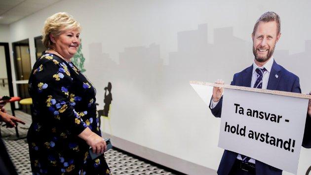 ONE NIGHT STAND: Det er en viss avstand mellom statsminister Erna Solberg og Bent Høie i å framsnakke gleden av one night stands. Men hvordan er egentlig nordmenns forhold til tilfeldig sex, eller til og med det sexolog og professor Bente Træen kaller one night standens spesialvariant – gruppesex?