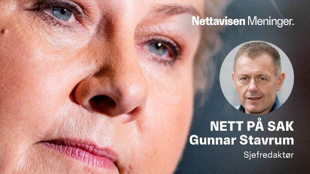 STRÅLENDE INNSATS: Ser vi bakover, kan Erna Solberg være stolt av mye som er oppnådd, skriver sjefredaktør Gunnar Stavrum.