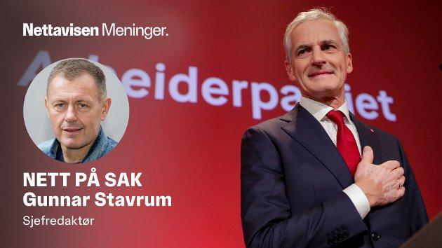 TAPTE, MEN VANT: Arbeiderpartiet går tilbake, men Jonas Gahr Støre blir statsminister med et klart rødgrønt flertall.