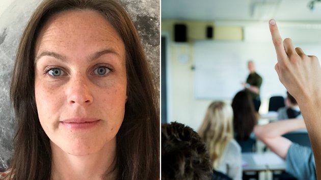 REALITETEN: – Nå skal jeg avlive en myte. Det finnes ingen vikarpott. Den eksisterer ikke, skriver Torun Vaagland Stav, lærer i trondheimsskolen, som mener skolen har vært underfinansiert over lang tid.
