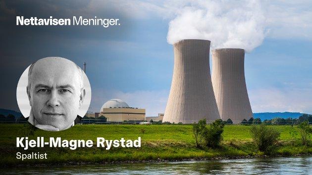 KJERNEKRAFT: - Ironisk nok kan Tysklands idiotbeslutning fra 2011 være det som tvinger frem økt satsing på atomkraft i Europa, skriver Kjell-Magne Rystad. Her fra atomkraftverket Grohnde ved Emmerthal i nordvestlige Tyskland i 2019.