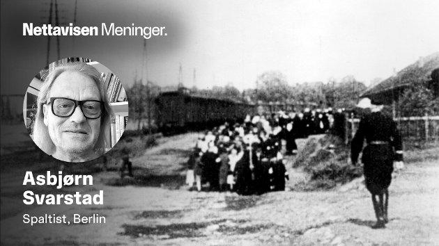 BABIJ JAR: – 33.771 jøder ble den 29. og 30. september 1941 drept ved Babij Jar i Ukraina. Etter å ha vært med på masseskytingg av kvinner og barn gjennom måneder og år, vendte soldatene tilbake til sine hjem - og snakket aldri om sin egen «krigsinnsats», skriver Asbjørn Svarstad.