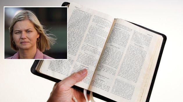 ÅPENT BREV: – Å dele ut en bibel til de som ønsker å ta imot, kan da ikke være noe problem med tanke på den livssynsåpne innstillingen som ministeren sier hun står for, skriver debattforfatterene.