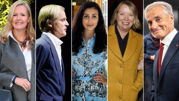 OPPVASK: Redaktør Vibeke Holth (t.v.) slår kraftig tilbake mot kritikken mot hennes eget Kapital og milliardæren Øystein Stray Spetalen fra den politiske venstresiden, her ved Hadia Tajik, Marie Simonsen og Jonas Gahr Støre.