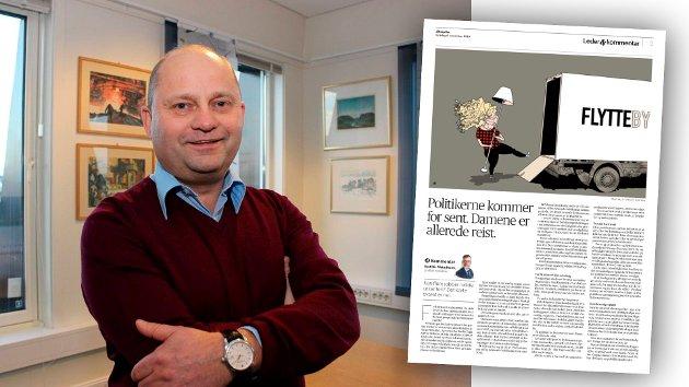 Adm. dir. Arve Ulriksen ved Mo Industripark viser til denne kommentaren fra Aftenpostens Kjetil B. Alstadheim.