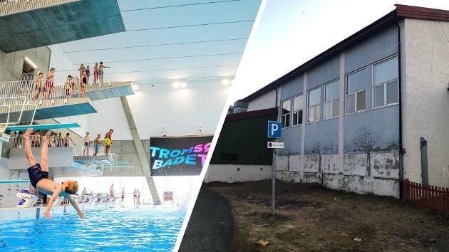 Tromsøbadet og Tromsdalen skole viser en grell kontrast i kommunens prioriteringer, mener artikkelforfatteren.
