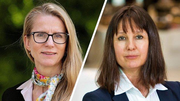 Jannicke Trumpy Granquist, adm. dir. i Kommunalbanken, og Anne jortveit, nestleder i Norsk klimastiftelse