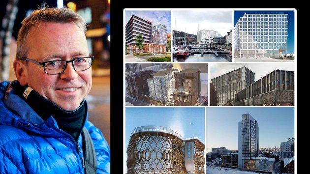 Jeg skulle gjerne sett mange flere boliger i sentrum og at flere av hotellplanene heller var forretnings- og kontorbygg med mange ansatte som ville bruke byens spisesteder og butikker i det daglige, skriver Venstres Morten Skandfer.