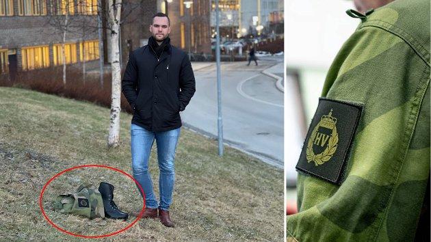 NEKTET: Andreas Bringsjord er en av studentene som ble nektet å bruke HV-uniformen på Uniformsdagen av Universitetet i Tromsø.