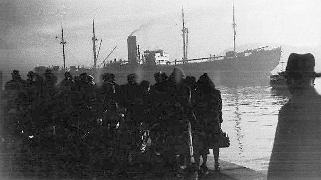 HOLOCAUST I NORGE: Natt til torsdag 26. november 1942 ble hundrevis av jødiske kvinner og barn  hentet i sine hjem av politiet. Ved havna i Oslo ventet det tyske skipet «Donau» på dem. Derfra ble de sendt til nazistenes utryddelsesleire for jøder. Foto: NTB