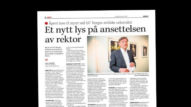 Nordnorsk debatt 13. januar.