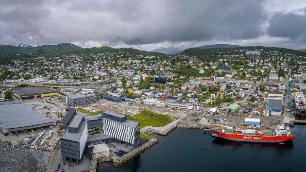 I lys av kunnskapen vi har om klimaendringer og faren for stormflo - er det riktig å bygge ny videregående skole på denne tomta i Seljestadfjæra i Harstad, undrer Gro Reppen.