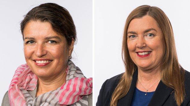 Liv Kari Eskeland og Elin Agdestein, stortingsrepresentanter for Høyre.