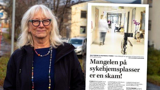 Det er tverrpolitisk enighet om en stor satsning for å sørge for at vi har tilstrekkelig med sykehjemsplasser til å dekke behovet. Kommunestyret har vedtatt en opptrappingsplan for kapasiteten til heldøgnsomsorg, skriver leder Gunhild Johansen i Helse- og velferdsutvalget (SV) i sitt svar på dette innlegget.